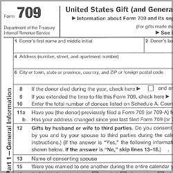 Form709-250x250px Tax Form Example on example filled, examples gift splitting, printable gift equity letter, schedule part 2, filling out irs, examples irs, can gift splitting be made amended, gifts life insurance trust,